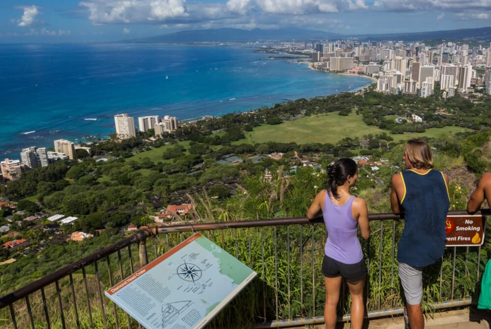 Top 6 Free Things to Do on Oahu featured by top Hawaii blog, Hawaii Travel with Kids: Diamond Head is a kid-friendly Oahu hike