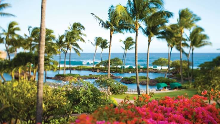 The Best Kauai Beaches for families featured by top US travel blog, Hawaii Travel with Kids: The Grand Hyatt Kauai is one of the best Kauai hotels on the South Shore