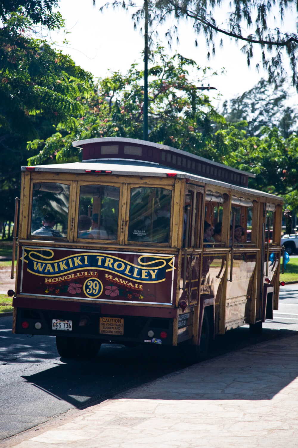 25 Amazing activities in Waikiki with kids featured by top Hawaii blog, Hawaii Travel with Kids: The Waikiki Trolley is an easy way to get around Waikiki on Oahu with kids