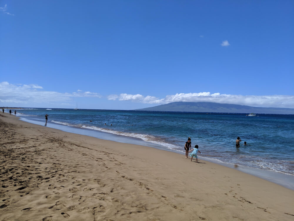 Kaanapali Beach is a kid-friendly beach on Maui