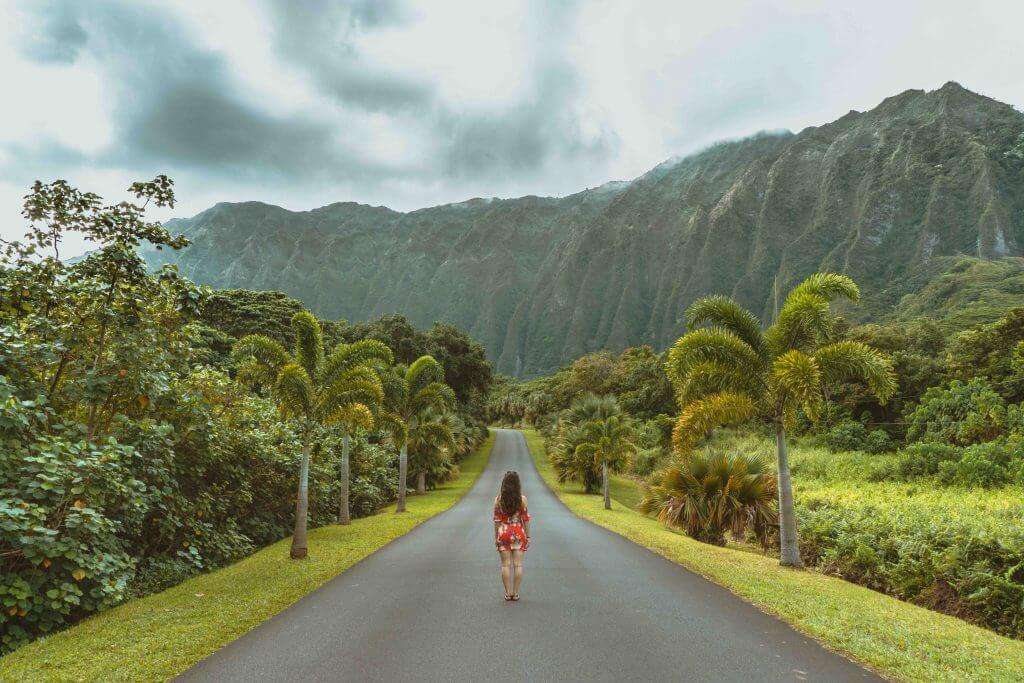 Tips for Hawaii on a Budget featured by top Hawaii blog, Hawaii Travel with Kids: HO'OMALUHIA BOTANICAL GARDEN is a popular photo spot on Oahu