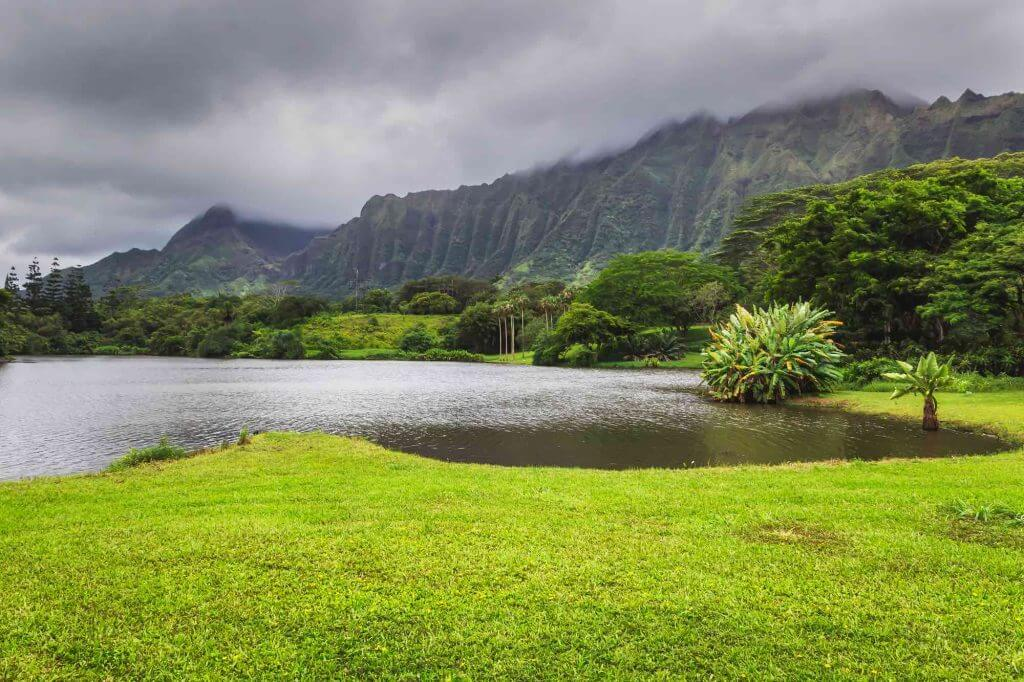 Hoomaluhia Botanical Garden is a free thing to do on Oahu and a popular Oahu photography spot.