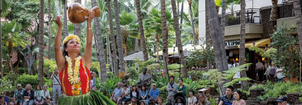 Top 6 Free Things to Do on Oahu featured by top Hawaii blog, Hawaii Travel with Kids: The Royal Hawaiian Center is a fun place to window shop and they have free cultural activities in Waikiki