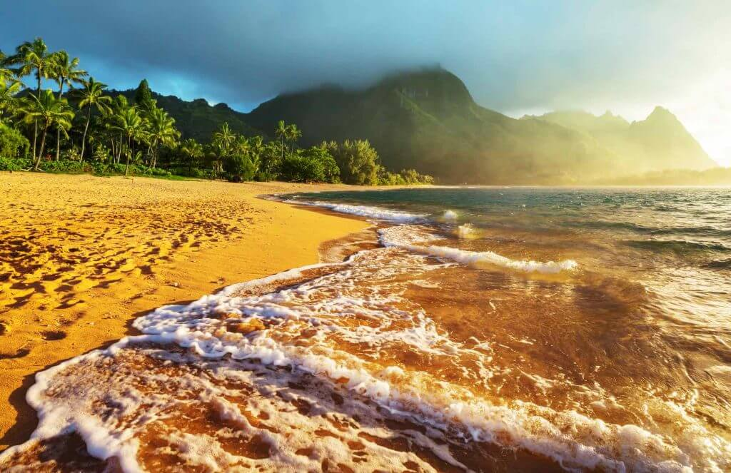 Tunnels Beach is one of the best places to watch sunset on Kauai