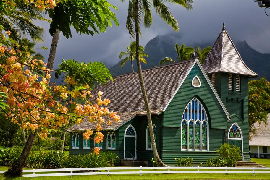 Waoli Huiia (aka Waioli Mission Church) the oldest church on the island of Kauai