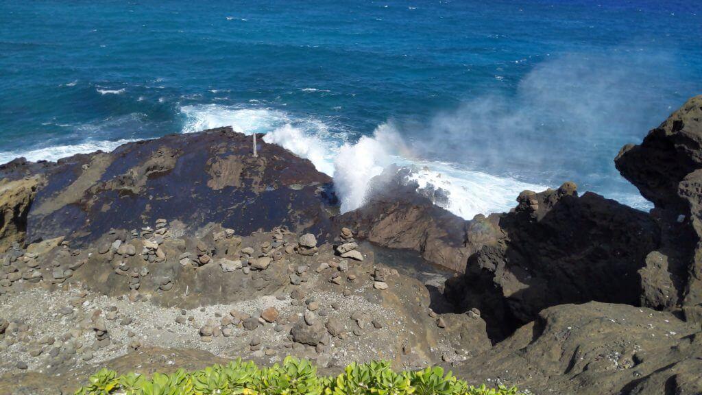 Halona Blowhole on Oahu