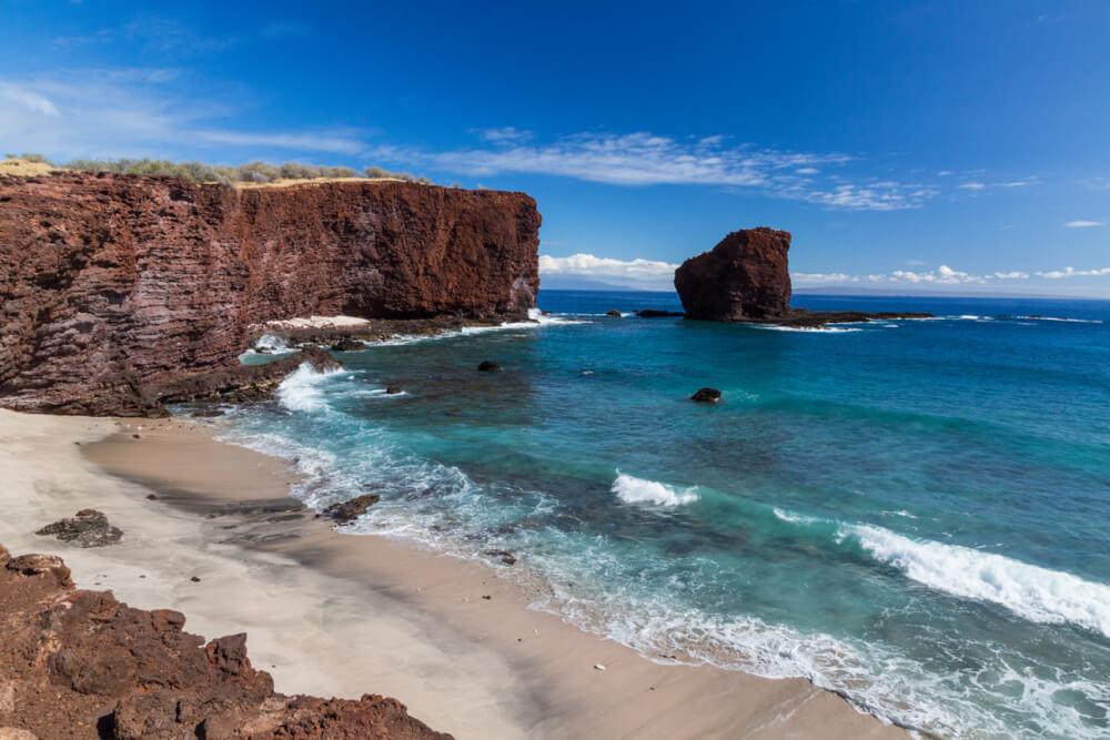 Top 5 Breathtaking Lanai Hikes featured by top Hawaii blog, Hawaii Travel with Kids: Cliffs near Puu Pehe (Sweetheart Rock) on Lanai
