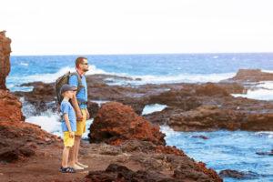 Top 5 Breathtaking Lanai Hikes featured by top Hawaii blog, Hawaii Travel with Kids: Hulopoe Shore at Lanai island