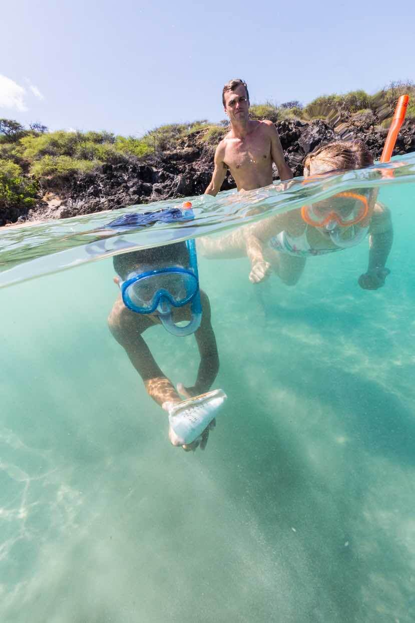 Places for the Best Snorkeling on Oahu featured by top Hawaii blog, Hawaii Travel with Kids: There are tons of great Oahu snorkeling spots like this one
