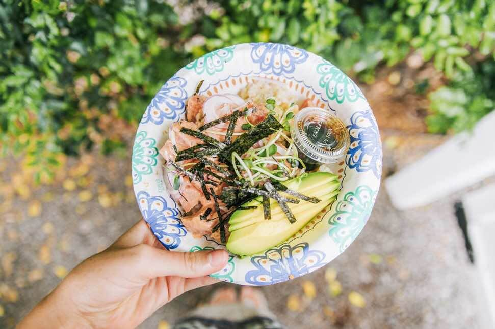 Where to Find the Best Poke in Oahu, places featured by top Hawaii blog, Hawaii Travel with Kids | Find out the best places to get poke on Oahu like this fresh poke bowl from top Hawaii blog Hawaii Travel with Kids