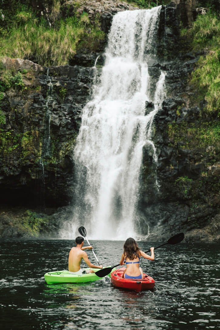 Top 7 Big Island Hawaii Waterfalls you Should Visit featured by top Hawaii blog, Hawaii Travel with Kids: Kulaniapia Falls on the Big Island of Hawaii