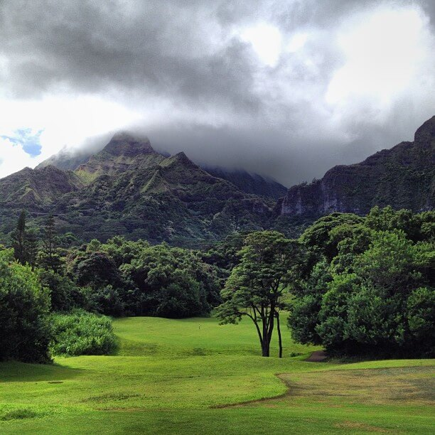 the Best Oahu Golf Courses featured by top Hawaii blog, Hawaii Travel with Kids: image of Koolau Golf Course on Oahu