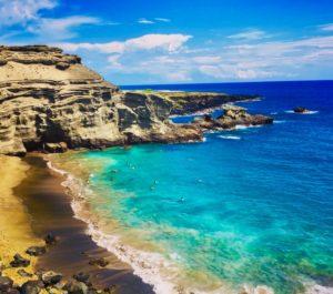 Where to Stay on the Big Island: Kona or Hilo, tips featured by top Hawaii blog, Hawaii Travel with Kids: Papakolea Green Sand Beach in Kona, Big Island