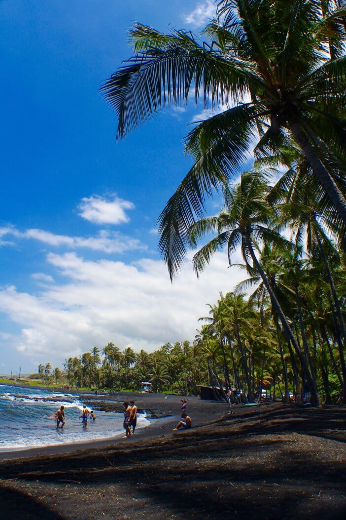 The Best Things to Do in Kona, Hawaii featured by top Hawaii blog, Hawaii Travel with Kids: Punaluu Beach in Kona on the Big Island