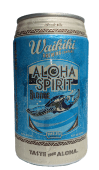 The Best Hawaiian Beer to Enjoy on Maui featured by top Hawaii blog, Hawaii Travel with Kids: Aloha Spirit Blonde Ale from Waikiki Brewing Company