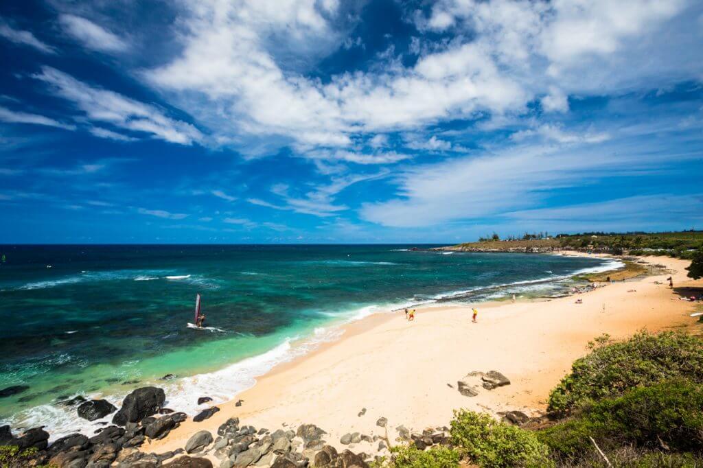 Hookipa Beach and bay in Paia, Maui