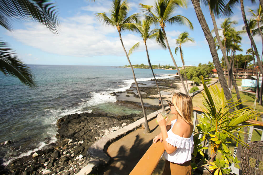 The Best Things to Do in Kona Hawaii featured by top Hawaii blog, Hawaii Travel with Kids: Woman on the Kona Coast