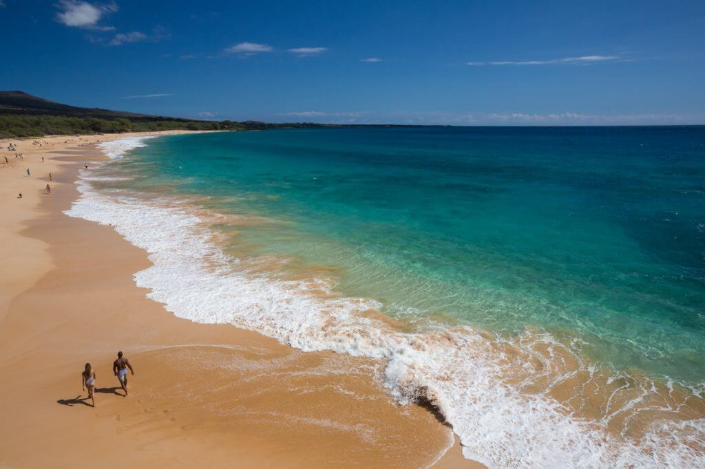 Makena Beach State Park in Wailea, Maui