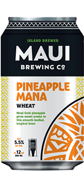 The Best Hawaiian Beer to Enjoy on Maui featured by top Hawaii blog, Hawaii Travel with Kids: Pineapple Mana Wheat beer from Maui Brewing Co.