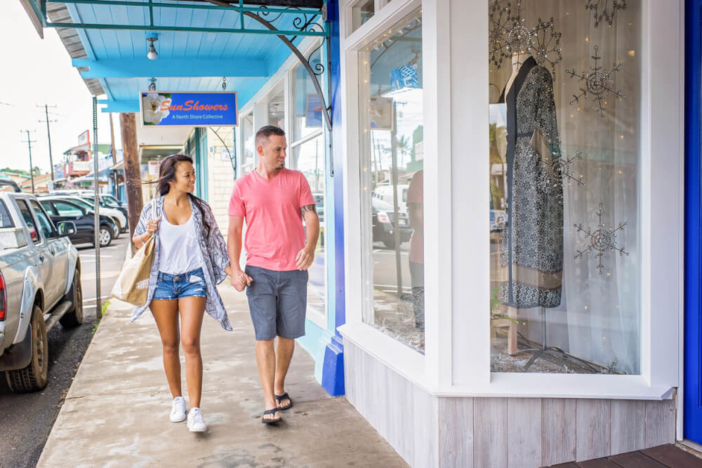 The Ultimate Guide to Shopping on Maui featured by top Hawaii blog, Hawaii Travel with Kids: Couple Shopping on Maui in Paia