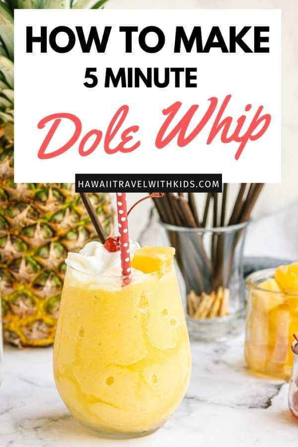 Copycat Disney Pineapple Dole Whip Recipe featured by top US Disney blogger, Hawaii Travel with Kids