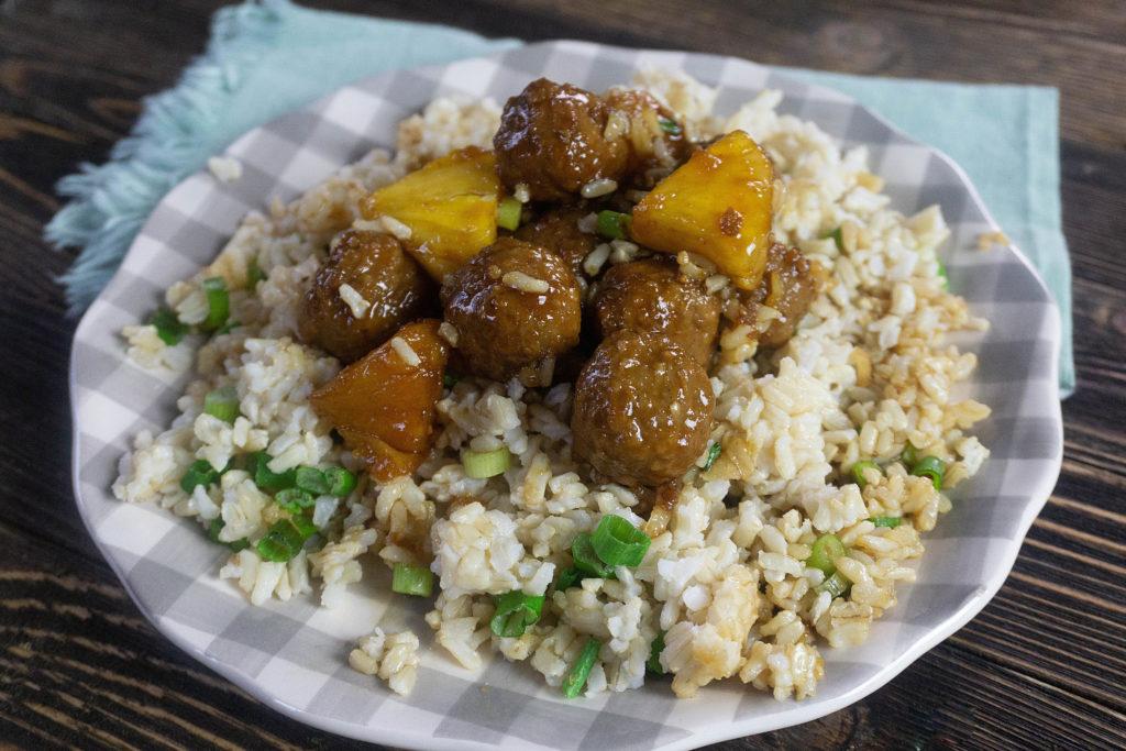 Hawaiian Style Instant Pot Teriyaki Meatballs featured by top Hawaii blog, Hawaii Travel with Kids.   instant pot recipes hawaii