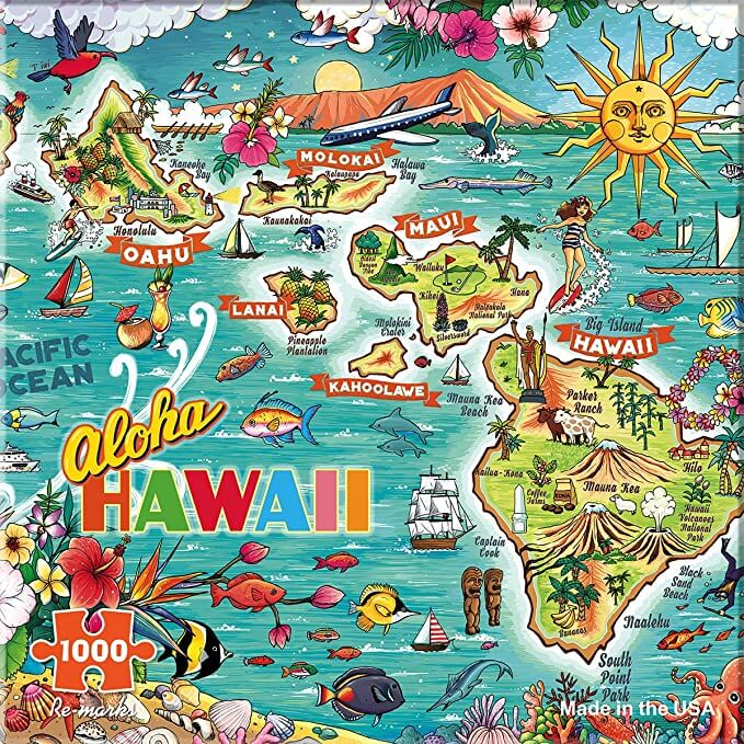 Top 20 Hawaiian experiences featured by top Hawaii blog, Hawaii Travel with Kids: Re-marks Hawaii 1000 Piece Puzzle