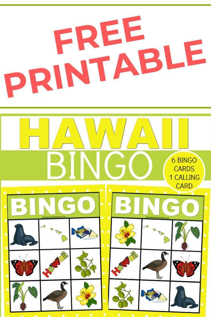 Hawaiian Bingo Game for Kids - FREE Printable featured by top Hawaii blog, Hawaii Travel with Kids.