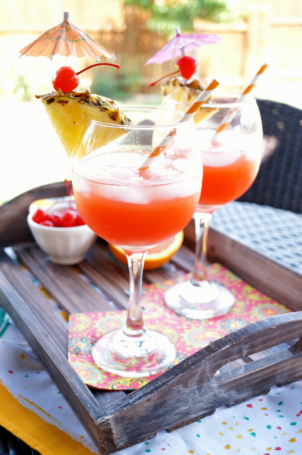 40 Hawaiian Cocktails To Try At Home featured by top Hawaii blog, Hawaii Travel with Kids: Bahama Mama tropical cocktail | The Baking Fairy