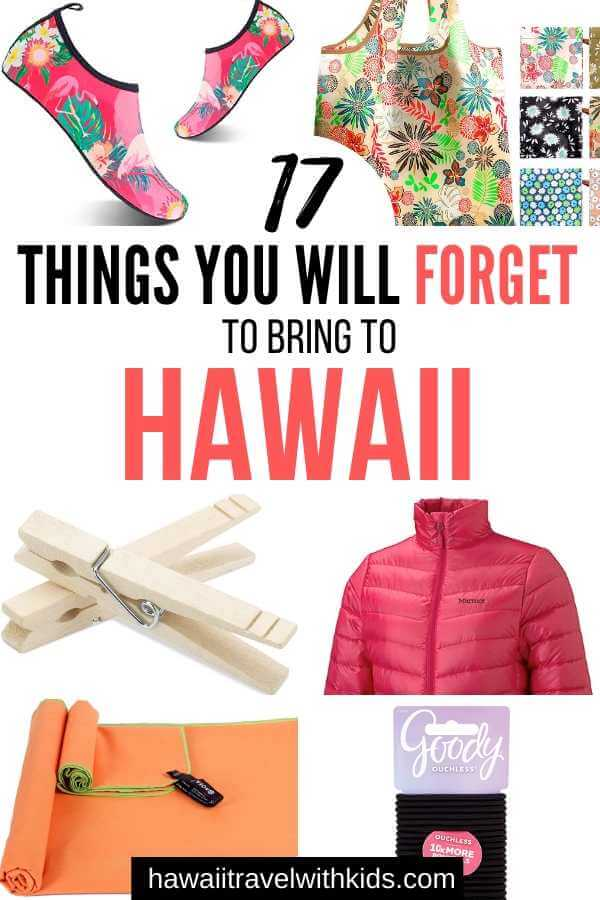 Family Hawaii Packing List featured by top Hawaii blog, Hawaii Travel With Kids.
