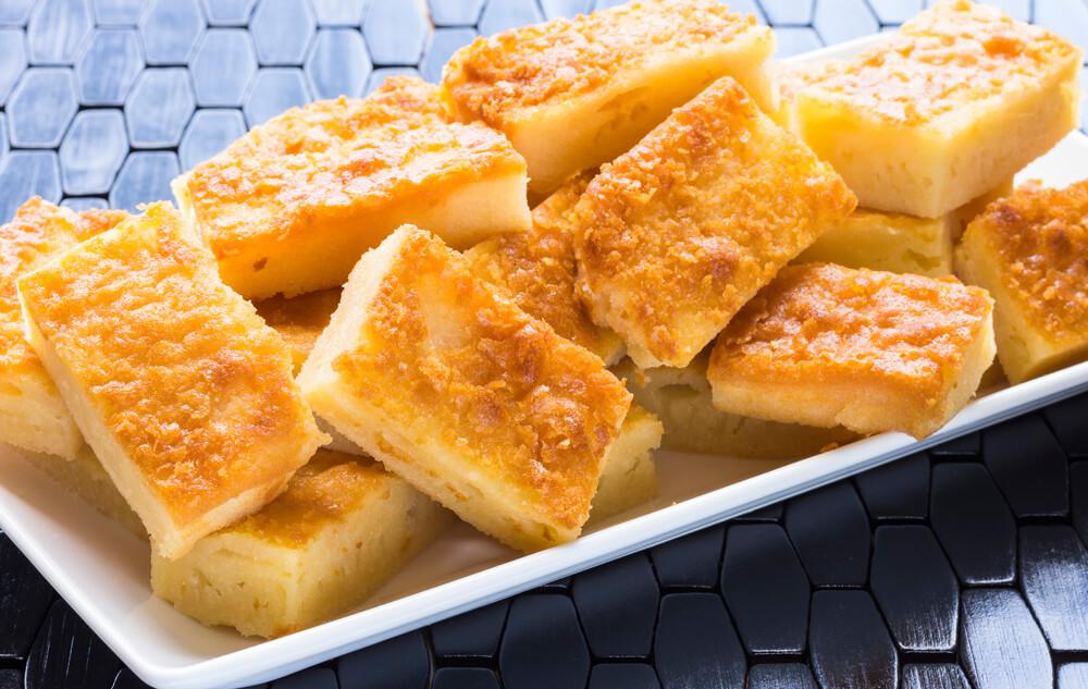 Common Hawaiian treat, delicious butter coconut mochi