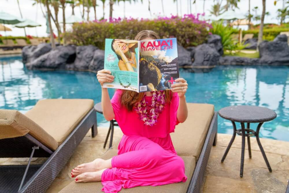 Top 12 Best Photo Opportunities on Kauai featured by top Hawaii travel blog, Hawaii Travel with Kids: The Grand Hyatt Kauai in Poipu has tons of cute Kauai photo opportunties all over their resort.