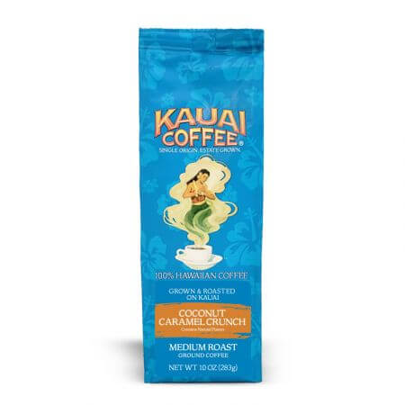 Top 15 Best Kauai Souvenirs featured by top Hawaii blog, Hawaii Travel with Kids: Kauai Coffee 100% Hawaiian Coconut Caramel Crunch - 10 oz or 24 oz