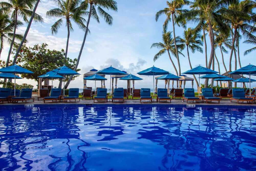 Top 8 Romantic Oahu Honeymoon Resorts featured by top Hawaii blog, Hawaii Travel with Kids: Kahala Resort & Spa pool