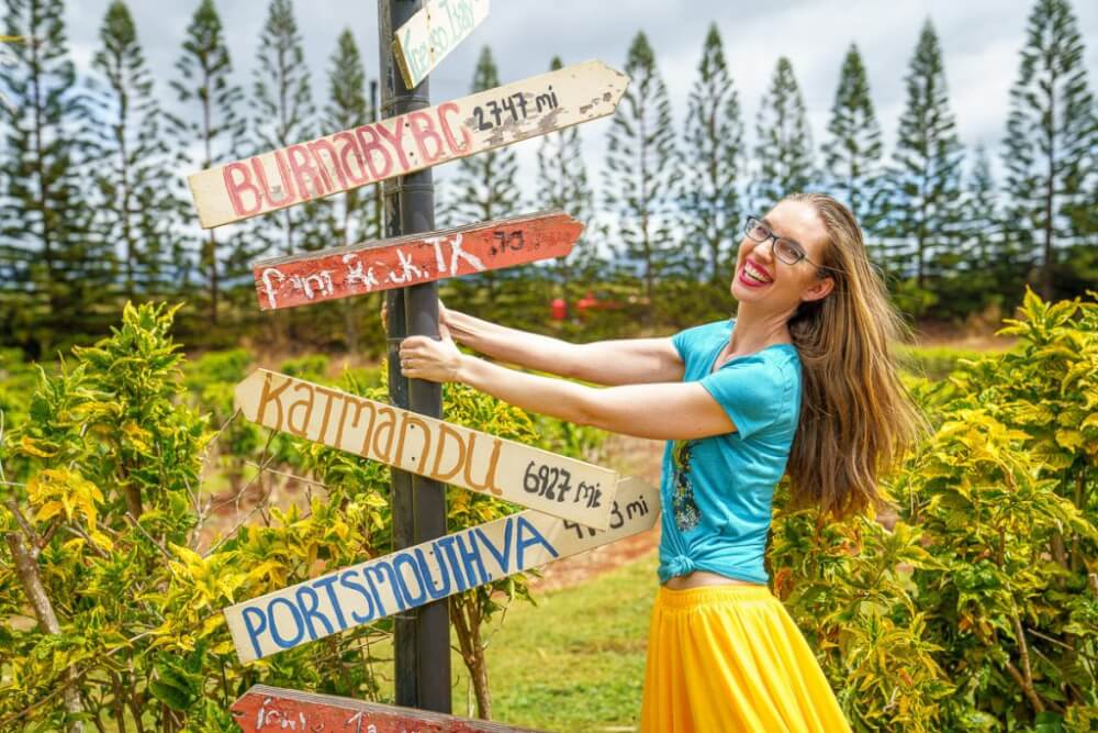 Top 12 Best Photo Opportunities on Kauai featured by top Hawaii travel blog, Hawaii Travel with Kids: Kauai Coffee Company has lots of fun photo ops throughout their plantation.