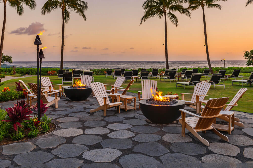 Fire Pits at Ko'a Kea Resort in Poipu