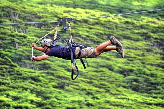 Top 25 Things to do in Poipu, Kauai featured by top Hawaii blog, Hawaii Travel with Kids: Koloa Zipline on Kauai