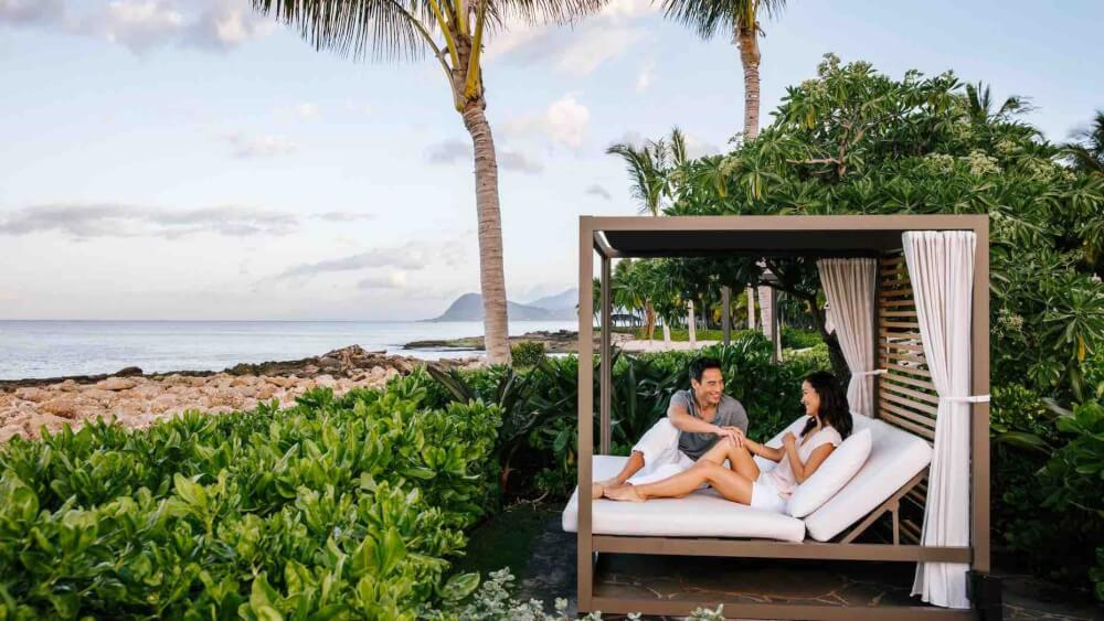 Top 8 Romantic Oahu Honeymoon Resorts featured by top Hawaii blog, Hawaii Travel with Kids: Private Oceanside Cabana at Four Seaons Ko Olina