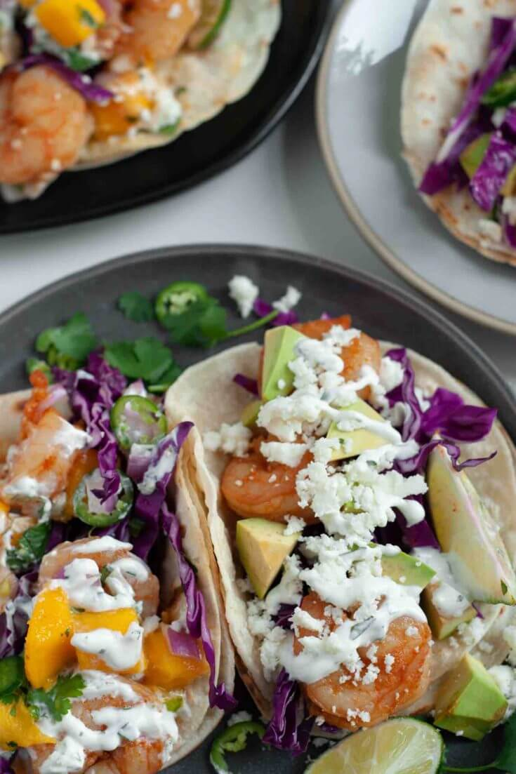 Shrimp Tacos with Mango Salsa recipe from top Hawaii blog Hawaii Travel with Kids