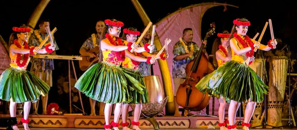 Top 8 Romantic Oahu Honeymoon Resorts featured by top Hawaii blog, Hawaii Travel with Kids: Aulani luau