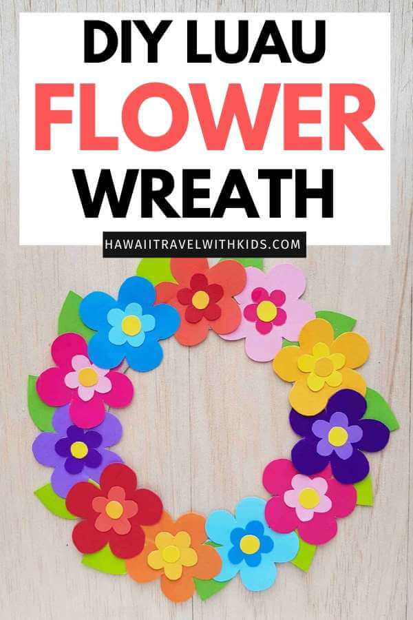 DIY Hawaiian Luau Decorations: How to Make A Paper Flower Wreath featured by top Hawaii blog, Hawaii Travel wt