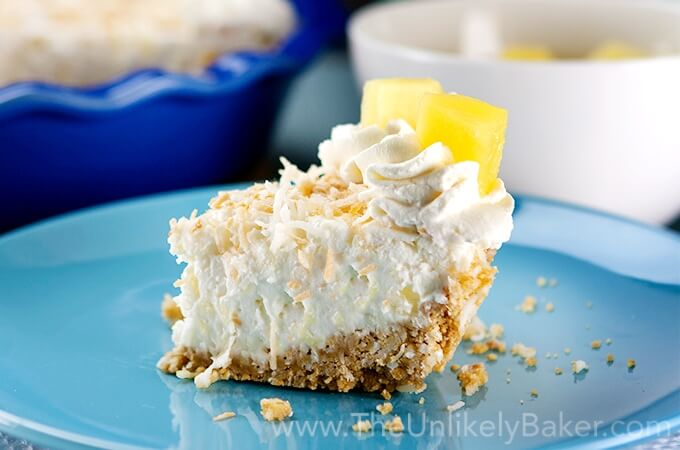 Pineapple Dessert Recipe Roundup by top Hawaii blog Hawaii Travel with Kids: No Bake Pineapple Coconut Cream Pie