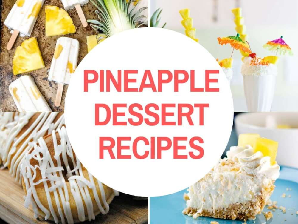 Pineapple Dessert Recipe Roundup by top Hawaii blog Hawaii Travel with Kids
