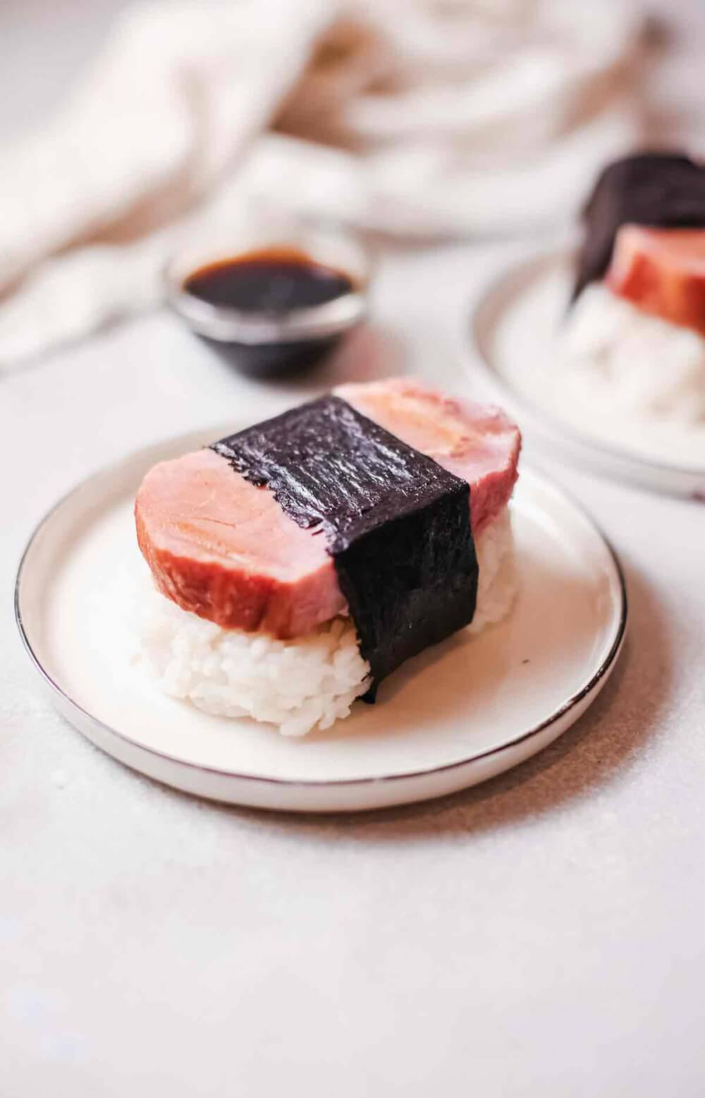 spam musubi recipe without mold recipe featured by top Hawaii blog, Hawaii Travel with Kids
