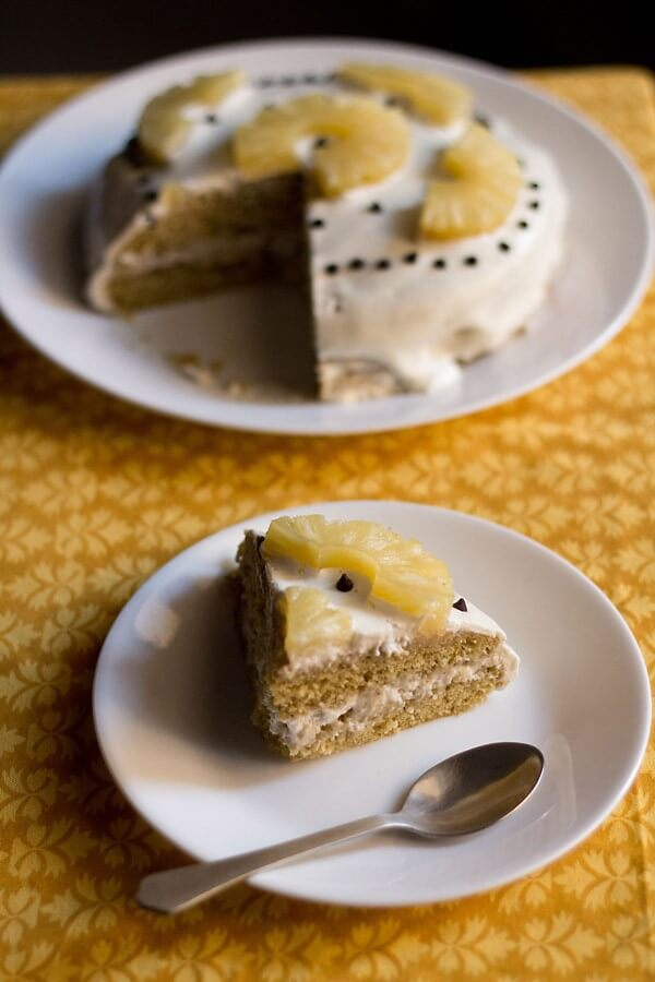Pineapple Dessert Recipe Roundup by top Hawaii blog Hawaii Travel with Kids: eggless pineapple cream cake