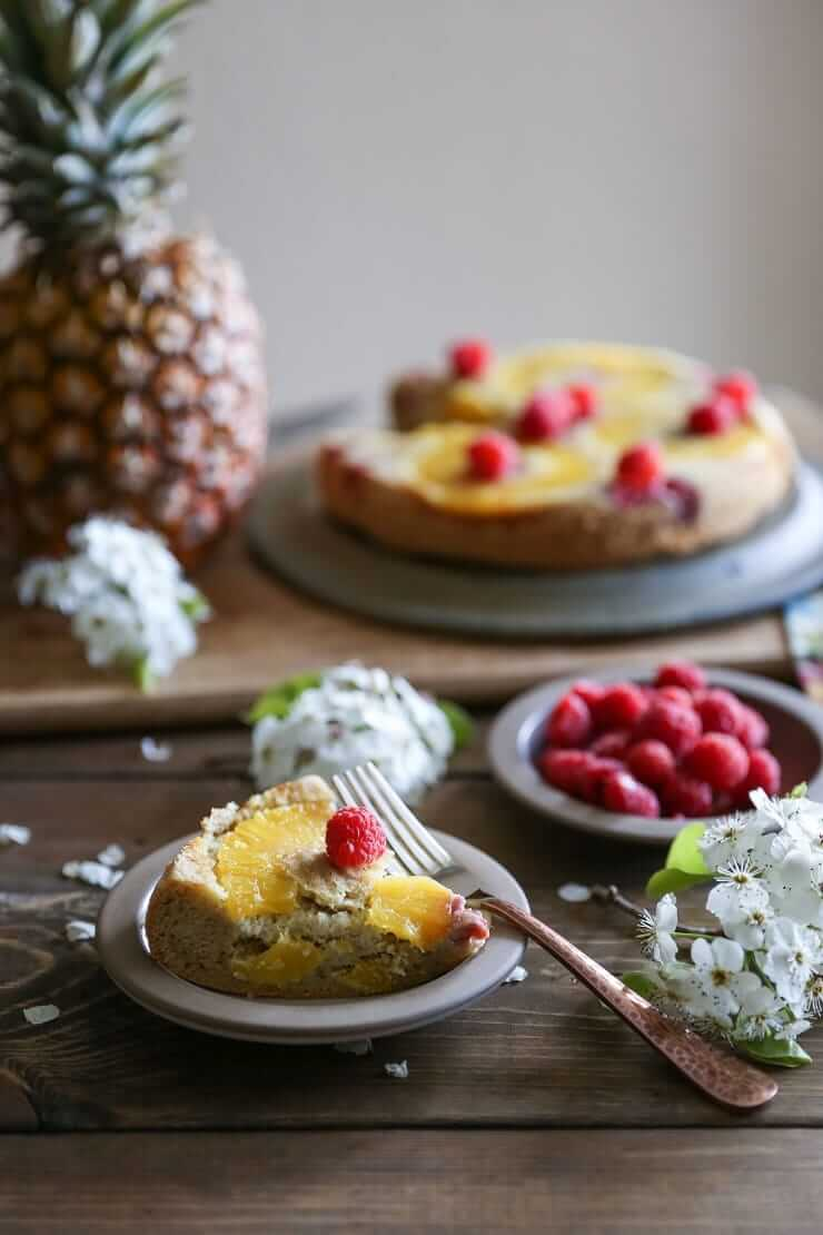 Pineapple Dessert Recipe Roundup by top Hawaii blog Hawaii Travel with Kids: Upside down pineapple cake - a grain-free recipe that happens to be paleo friendly!