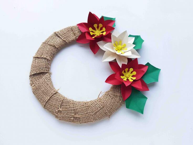 Hawaiian Christmas Decorations: How to Make a Poinsettia Wreath