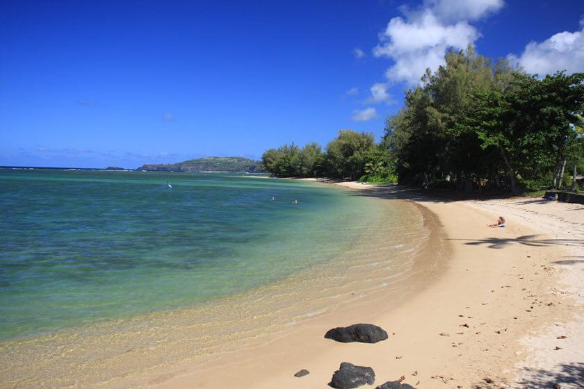 101 Best Things to Do on Kauai with Kids featured by top Hawaii blog, Hawaii Travel with Kids: Anini Beach is one of the best kid-friendy Kauai beaches