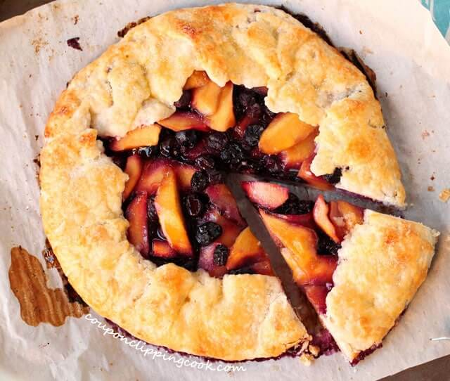 Best Mango dessert recipes by top Hawaii blog Hawaii Travel with Kids: Mango, Blueberry and Ginger Galette on board