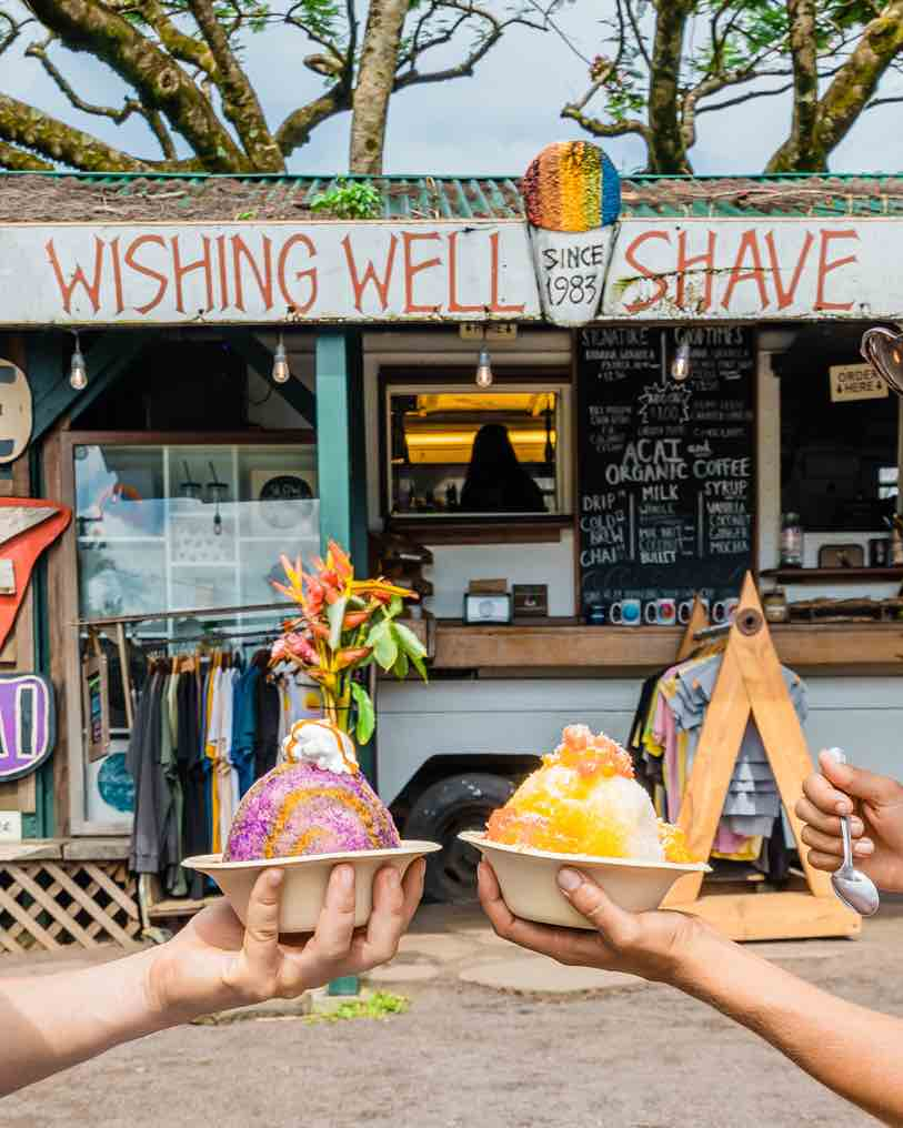 101 Best Things to Do on Kauai with Kids featured by top Hawaii blog, Hawaii Travel with Kids: Wishing Well Shave Ice on Kauai